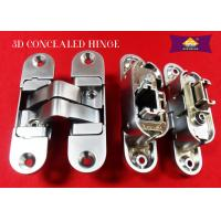 Wholesale 3D Adjustable Zinc Alloy Italian Hinges Invisible Door Hinges With Rass / Copper Finishing from china suppliers