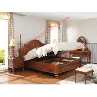 Wholesale Ancient Rome style Solid Wood Bed with Storage in Bedroom Furniture sets from china suppliers