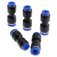 Buy cheap PU Union Stright one touch black 4/6/8/10/12/16MM pneumatic tube fittings from wholesalers