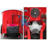 Wholesale Supersize Cattle Feed Mixer Truck , Supreme Livestock Feed Mixer With 8pcs Tyres from china suppliers