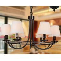 Wholesale Wrought Iron Modern Chadelier Lamp 6 Light / Bedroom Chandeliers Lighting from china suppliers