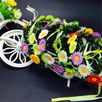 Wholesale Flower crown floral headband hair head wreath hairband beach accessories for women girls hair tiara from china suppliers