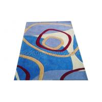 Wholesale Red / Blue Acrylic Area Rug, Hand-tufted Abstract Pattern Modern Washable Rugs from china suppliers