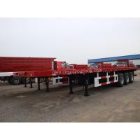 Wholesale 3-Axles Flatbed Container Semi-trailer-40ft from china suppliers