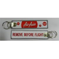 Wholesale Air Asia Remove Before Flight Fabric Embroidered Tags Custom Logo Are Welcome from china suppliers