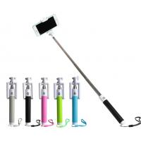 Quality Lightweight Mobile Phone Selfie Stick , Foldable Selfie Bluetooth Monopod for sale