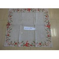Christmas Design Linen Hemstitch Tablecloth Beautiful For Adult Age Group