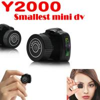 Wholesale Y2000 2MP Smallest Mini DVR Camera Spy Hidden Covert Video Recorder Camcorder PC Webcam from china suppliers