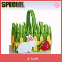 Wholesale New bunny style decorative grass easter egg basket from china suppliers