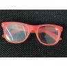 Buy cheap Wayfarer Style 3D Prism Rave Hard Plastic 3D Diffraction Glasses 13500 Light Gratings from wholesalers
