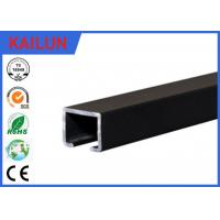 Wholesale Black Anodized Aluminum Slide Track , Ceiling Mounted Curtain Track 20 X 25 Mm from china suppliers