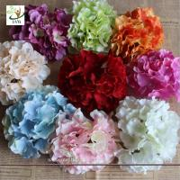 Wholesale UVG FBL01 white artificial flower heads in silk hydrangeas for wedding backdrop decoration from china suppliers