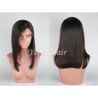Wholesale Glueless Short Full Lace Front Wigs Human Hair with Silky Straight from china suppliers
