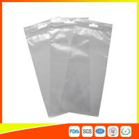 Wholesale Transparent Industrial Ziplock Bags Plastic LDPE Resealable With Handle Hole / Hanger from china suppliers