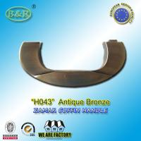 Wholesale H043 antique bronze casket hardware zamak handle de ataude size 17.5*7cm from china suppliers