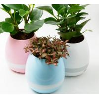 Quality Touching Singing Plant LED Flower Pots Interaction Bluetooth Speaker Smart Music for sale