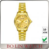 Wholesale Private Label Male 18K Solid Gold Watches For Men With Diamonds OEM / ODM from china suppliers
