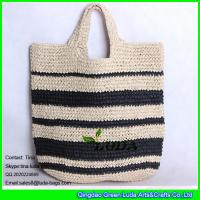 Wholesale LUDA fashion summer paper straw woven tote bag from china suppliers