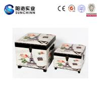 Buy cheap PU Leather Printing Wooden Ottoman/ Stool/Storage Box/ Trunk from wholesalers
