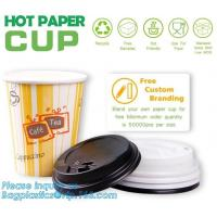 Quality Biodegradable coffee paper cup with lid custom printed paper cup,3oz 5oz 6oz 8oz ice cream paper cup and paper lid pack for sale