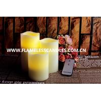 Wholesale Battery Operated Unscented LED Wax Pillar Candles , Flickering Flameless Candles with Remote from china suppliers