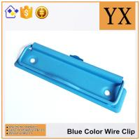 Wholesale 10 CM Blue Color Metal Wire Clips Clipboard Hardware With Metal Hanger from china suppliers