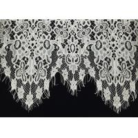 Buy cheap Off White Scalloped Edge Soft Raschel Eyelash Lace Trim 1.5 Meters Length 60