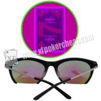 Buy cheap Purple UV Perspective Glasses For Magic Show / Casino Games / Poker Match from wholesalers