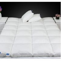 Quality Cotton Fabric 5% Duck Feather Filling Mattress Topper Down Mattress Pad for sale
