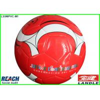 Wholesale Custom Printed Machine Stitched Soccer Ball Regulation Size , Red from china suppliers