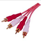 Wholesale 2RCA plug to 2RCA plug Gold plated Connector Clear PVC  RCA cable from china suppliers