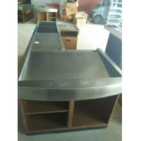 Wholesale Automatic Conveyor Belt Checkout Counter Stands With Stainless Steel Border from china suppliers