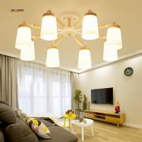 Wholesale LED chandelier living room restaurant the bedroom wood minimalist modern wind industry with creative Japanese-style from china suppliers