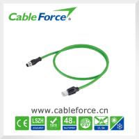 Wholesale Industrial Ethernet cable connectors M12 D Coded male connector to RJ45 male plug from china suppliers
