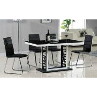 Wholesale classic black dining set, dining table, glass table, royal dining chairs, #6010 from china suppliers