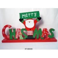 Wholesale Christmas Wooden Glitter Words Table Decoration, Santa, Merry Christmas gifts from china suppliers