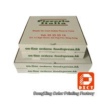 Quality White Takeaway Pizza Packaging Boxes , Custom Logo Printing Innovative Foldable Pizza Box for sale