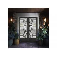 Wholesale Mosaic Metal Front Doors With Glass Custom Spray Coating Hot Dip Galvanize from china suppliers