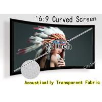"Wholesale Full HD 92"" Diy Curved Projection Screen With Sound Penetration Fabric  from china suppliers"