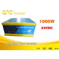 Quality 1000W 24v To 220v Inverter Off Grid Pure Sine Wave With FCC Certification for sale