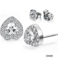 Wholesale New design Drjobson jewelry stainless steel earrings with crystal for women,hot sales-02 from china suppliers