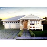 Wholesale Beautiful Prefab Bungalow Homes / Bungalow House Plans With Corrugated Steel Roofing from china suppliers