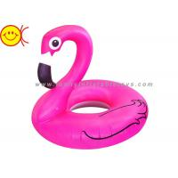 Wholesale Foldable Flamingo Inflatable Water Floats With Logo / Banner Printing from china suppliers