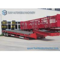 Wholesale Hydraulic Legs red Flatbed Semi Trailer , 30 T 40 T dual axle trailer from china suppliers