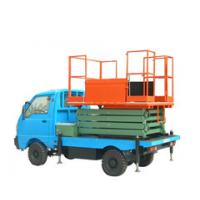 Wholesale 11m lifting height stationary vehicle mounted scissor lift for light replacement from china suppliers