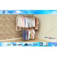 Wholesale Metal Double Layer Portable Clothes Hanger Rack Extendable Single Rod Indoor Use from china suppliers