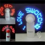 Wholesale custom ABS + PVC + Metal flexible usb fan with led message for promotional items from china suppliers