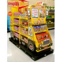 Wholesale Automobile Printed Cardboard Display Shelf , Free Stand cardboard point of purchase displays from china suppliers