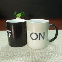 Wholesale Souvenir gift OFF-ON ceramic coffee mugs water transfer printing from china suppliers
