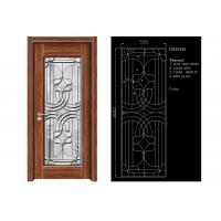 Wholesale Inteiror Door Architectural Decorative Glass , Clean Bevelled Glass Door Panels from china suppliers